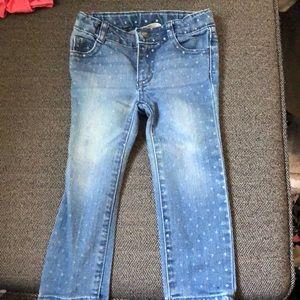 Crazy8, skinny polka dot print jeans, size 2T!